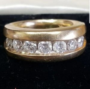 Jewelry - Solid 14kt Gold and Diamond wedding ring